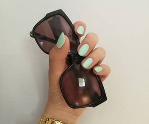 aesthetic, green, and green nails image