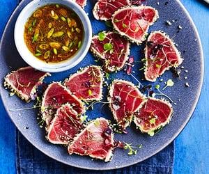 sashimi, tataki, and seared tuna image