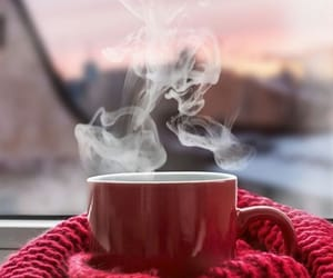 coffee, winter, and red image
