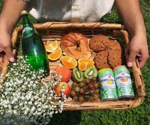 aesthetic, picnic, and san pellegrino image