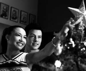 glee, naya rivera, and cory monteith image