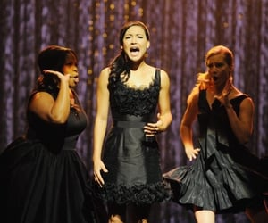 glee, heather morris, and amber riley image