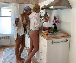 bikini, cottage, and friendship image
