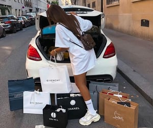 luxury, girl, and shopping image