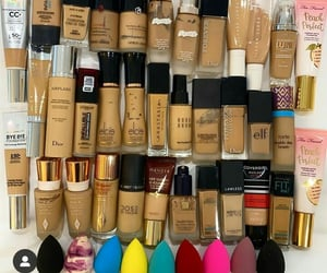 makeup, makeup collection, and blender image