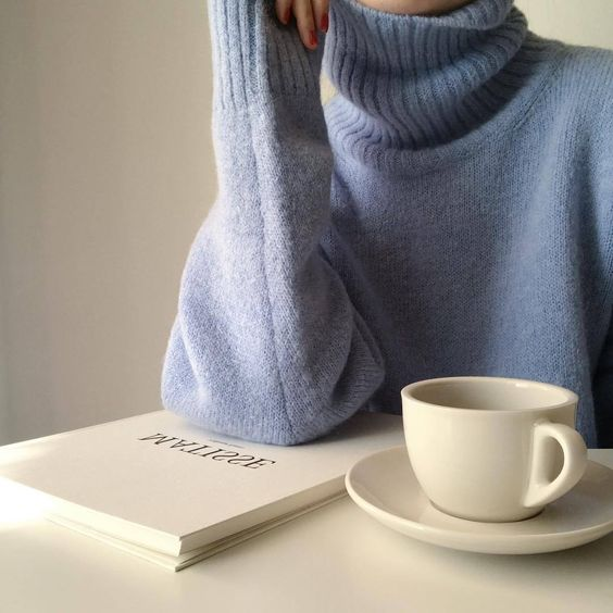 aesthetic, blue, and coffee image