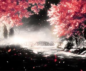 anime, bridge, and gif image