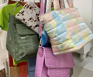 purses, color, and snake image