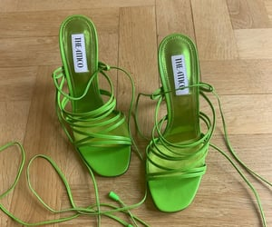 green, shoes, and fashion image