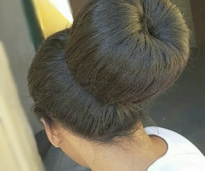 beautiful, bun, and hairstyle image