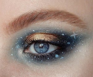 gold, eyeshadow, and make up image