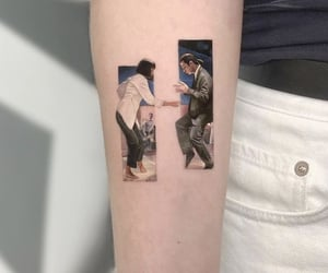 film, pulp fiction, and tattoo image
