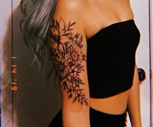 floral, girls, and tattoo image