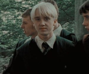 draco malfoy, slytherin, and harry potter movies image