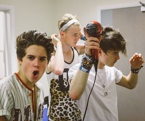 celebs, the vamps, and bradley simpson image