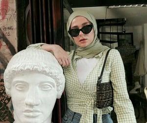 beauty, hijab, and jeans image