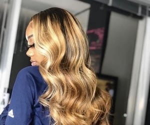 blonde hair, inches, and lace front image