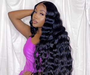 inches, lace front, and deep wave image