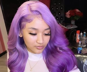 gold chain, ombre hair, and lace front wig image