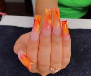 lava, acrylics, and long nails image