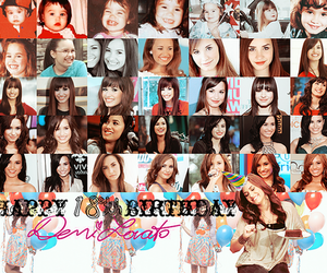 demi lovato and haapy birthday image