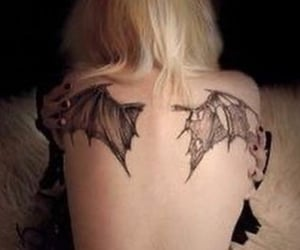 tattoo, wings, and black image