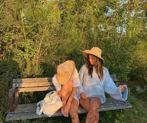 aesthetic, girls, and nature image