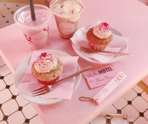 pink, aesthetic, and cupcake image
