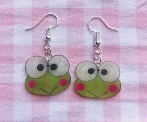 earrings, etsy, and frog image