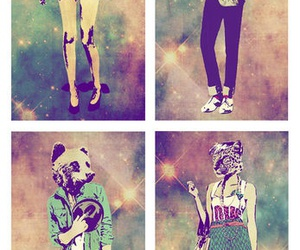 animal, hipster, and art image