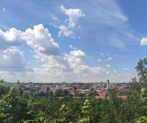city, Lithuania, and sky image