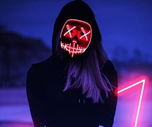 girl and neon image
