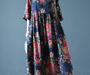 etsy, floral dress, and cotton dress image