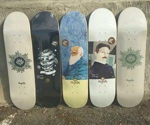 skate, skateboard, and skater image