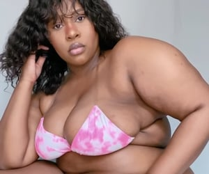 beautiful, bikini, and curly image