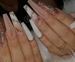 nails and white nails image