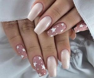 nails, girl, and stars image