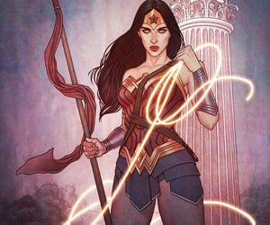 art, wonder woman, and comics image