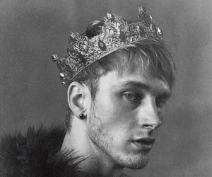 black and white, prince, and crown image