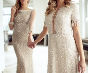 dress, party, and wedding guests image