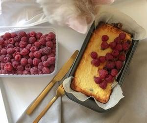 food, cake, and raspberry image
