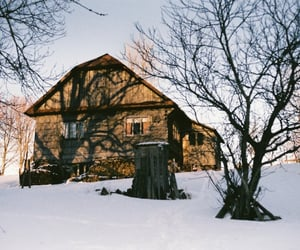 35mm, cabin, and film image