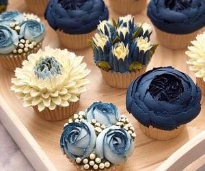 cupcake, food, and blue image