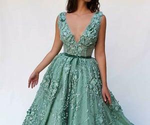 clothes, dress, and green image