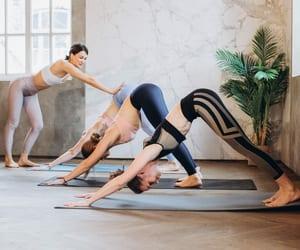 fitness, yoga, and yogaposes image