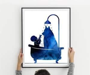 etsy, bath decor, and baby and dog image