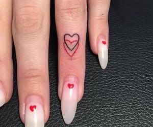 beauty, heart, and tattoo image