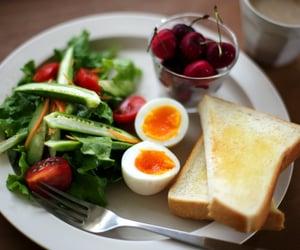 breakfast, food, and eggs image