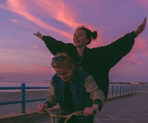couple, sky, and aesthetic image