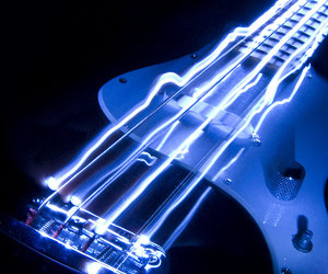 bass guitar, blue, and cool image